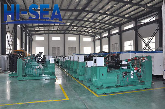 30kw industrial genset in factory