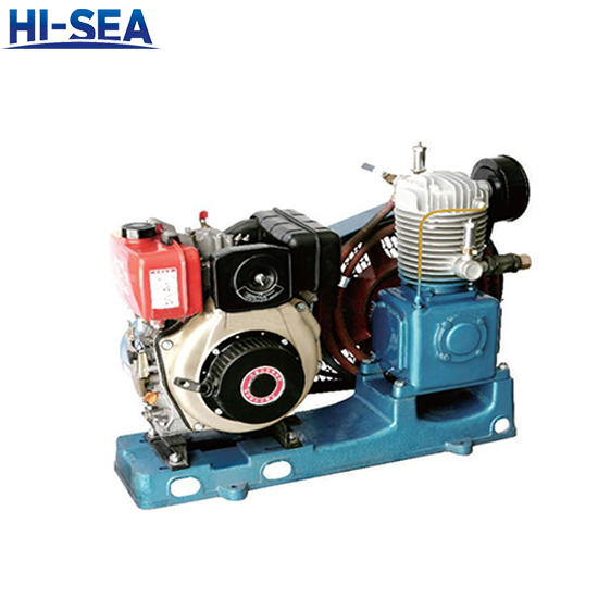 Marine Single Row Medium Pressure Air-Cooled Emergency Air Compressor