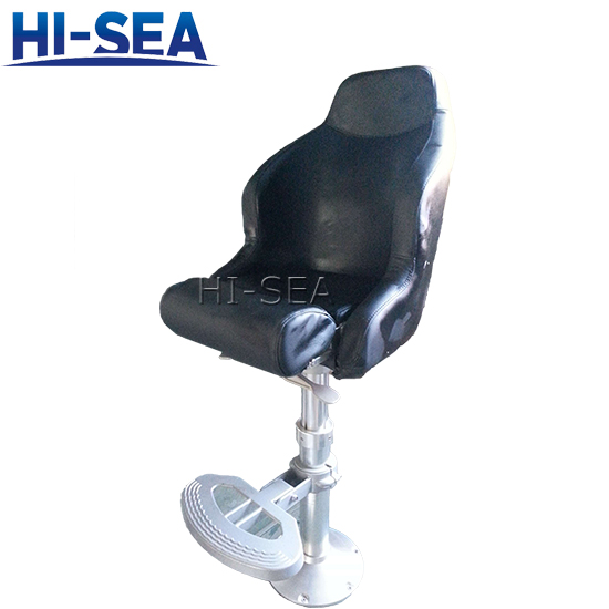 Marine Light Pilot Chair with Aluminum Alloy Fixed Base
