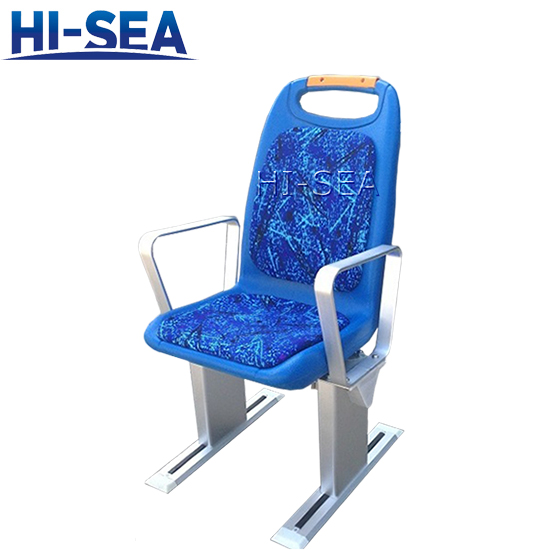 Plastic Passenger Seat with Cushion