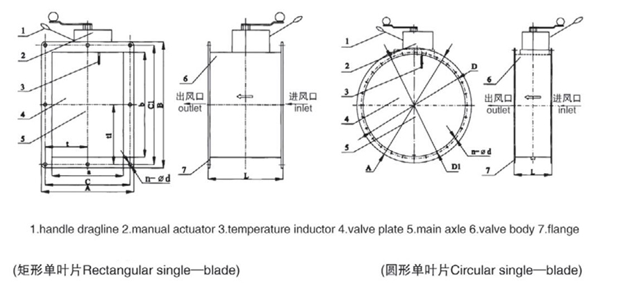 A60 Rated Manual Fire Damper