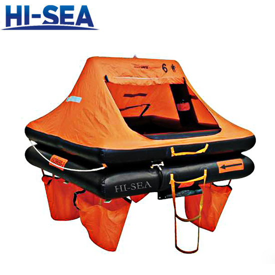 Throw-Over Board Inflatable Liferaft For Yacht