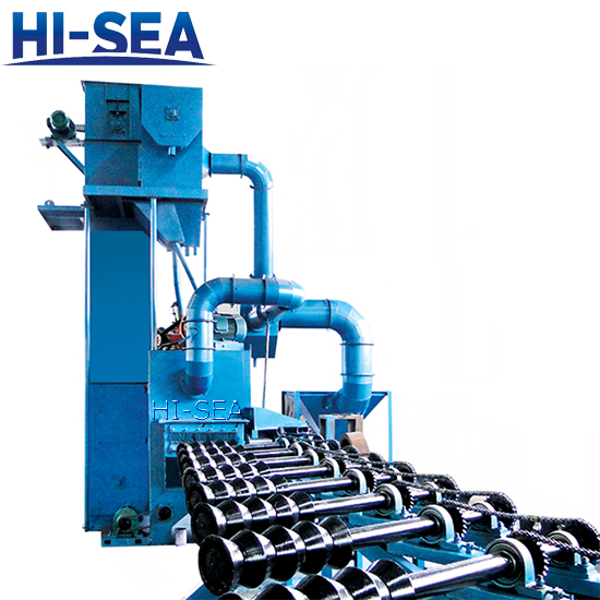 Steel Pipe Sand Blasting Machine