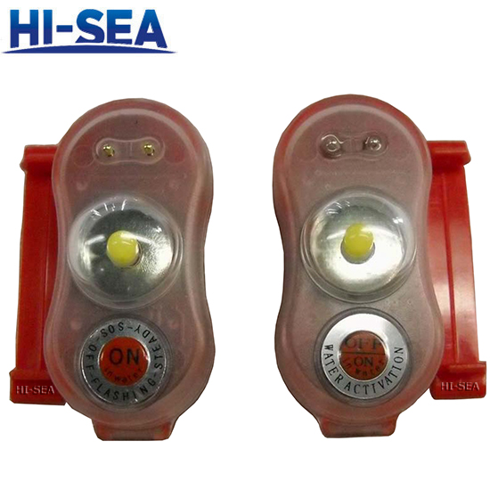 Water-activated Life Jacket Light